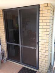 Sliding insect screen door