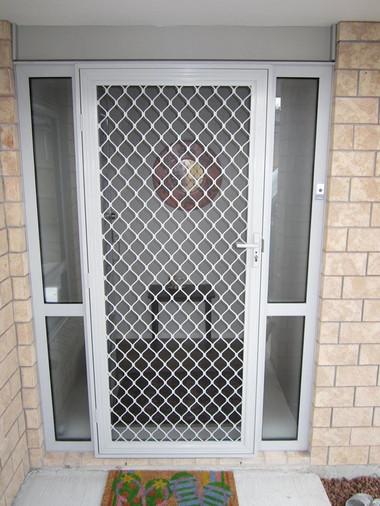 Hinged security door