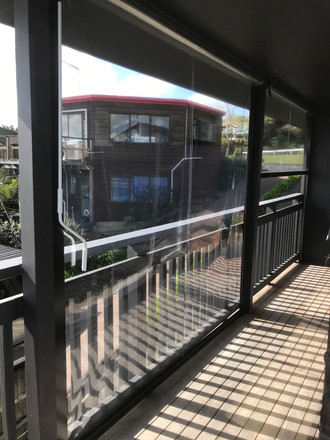 PVC outdoor scren with side channels