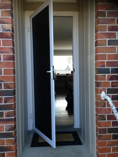 Security door hinged clearguard