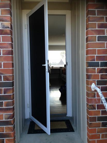 Security door hinged