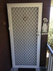 Security hinged door