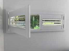 Wooden white shutters