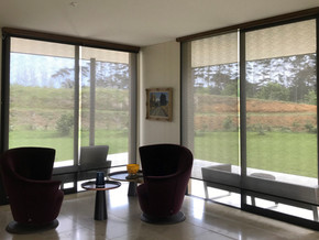 Motorised sunscreen and black out roller blinds