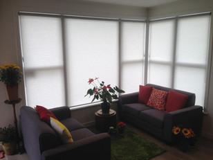 Light filtering roller blinds
