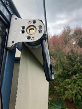 Detail of gear box outdoor screen