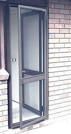 Hinged insect screen door