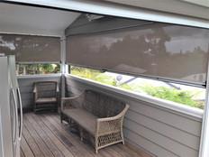 Ziptrak mesh outdoor screen