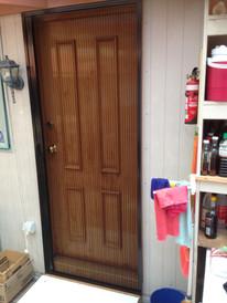 Pleated insect screen door