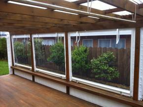 Outdoor PVC screen zipped