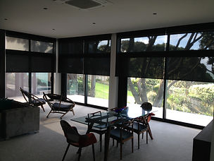 Sunscreen motorised Roller Blinds