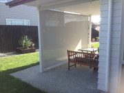 Outdoor screen with mesh