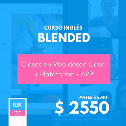 Curso Inglés Blended: Clases en Vivo desde Casa + Plataforma y APP (3 meses)