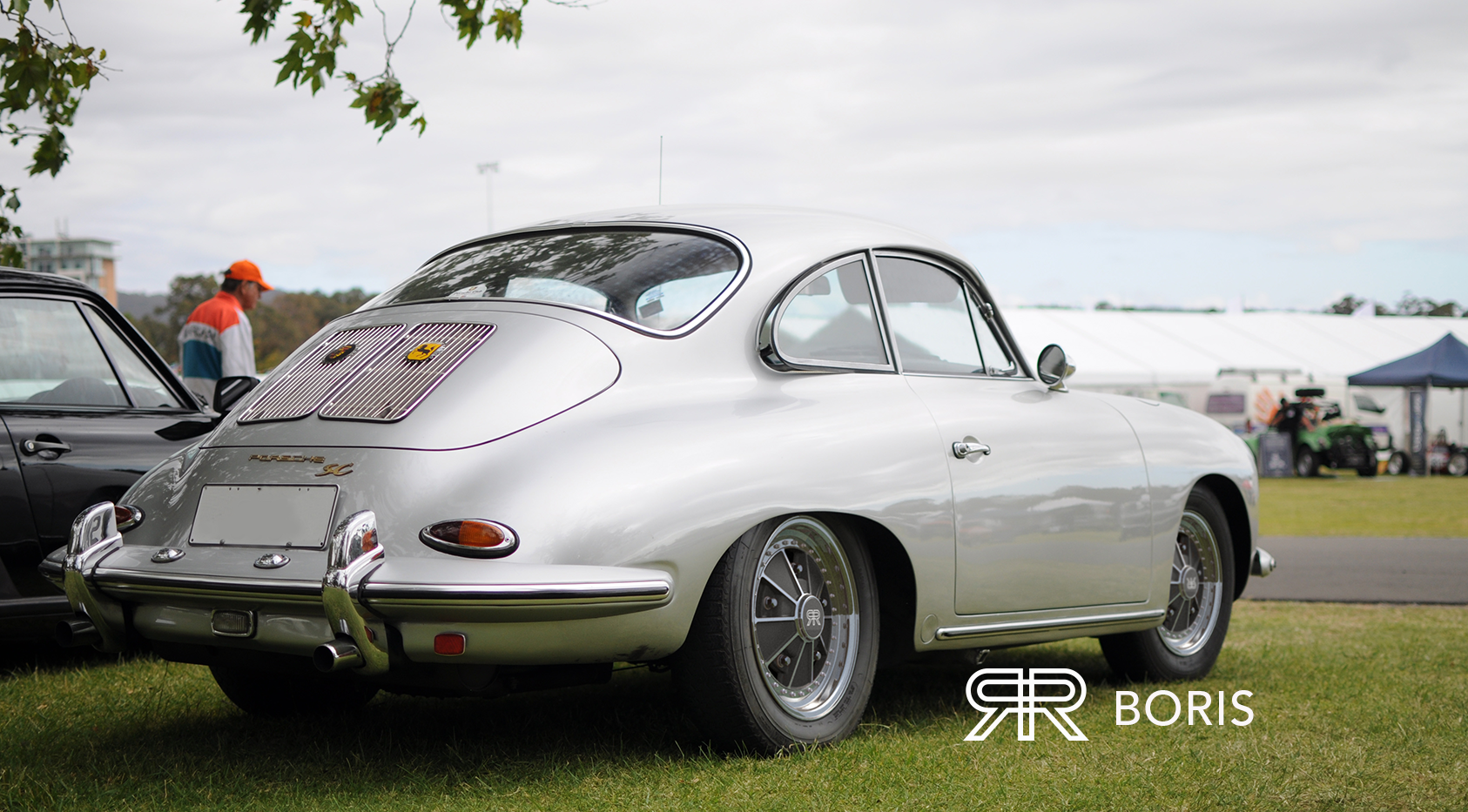 Silver 356 Porsche with BORIS