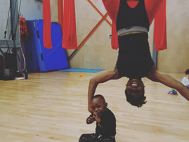Child friendly Self-Care things to try in London: Aerial Yoga