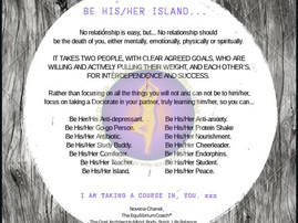 BE HIS/HER ISLAND.