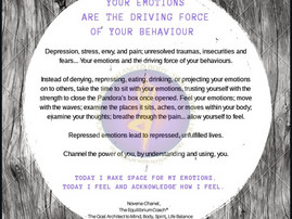 YOUR EMOTIONS ARE THE DRIVING FORCE OF YOUR BEHAVIOUR