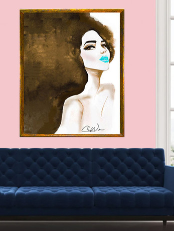 Blue Kiss Art Print