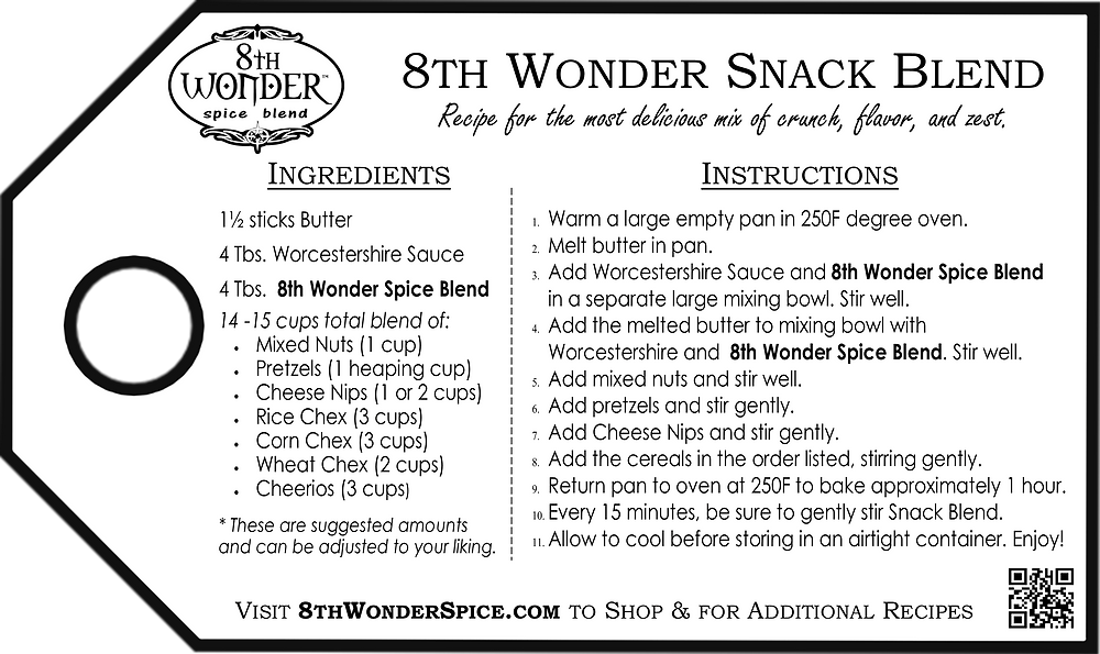 8th Wonder Snack Blend - recipe card