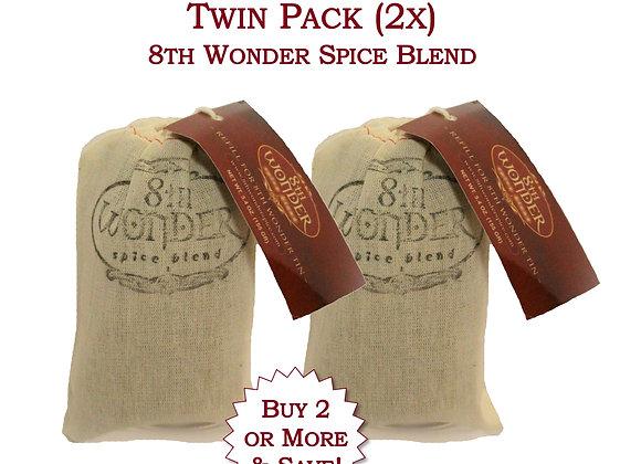 Twin Pack of EcoFriendly Refill Bag - 8th Wonder Spice Blend (5.4oz - 155g) 2x