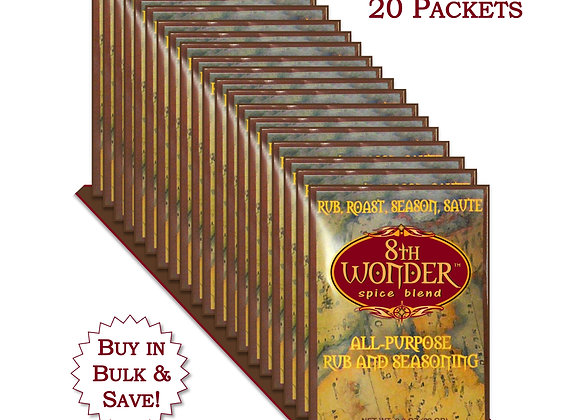 WH 20x (1 Case) of Packet - 8th Wonder Spice Blend (.8oz - 22g) 20x