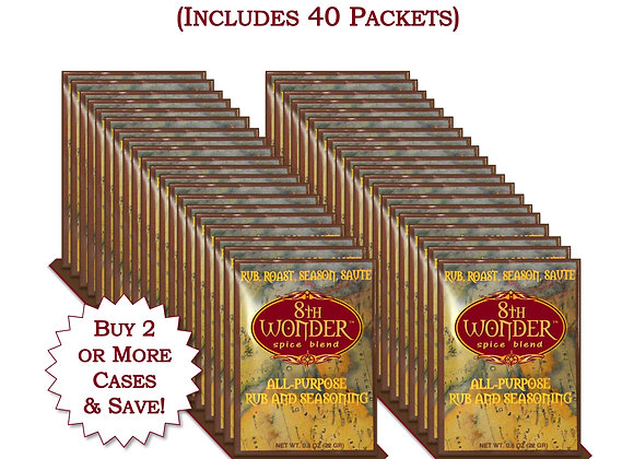 WH 40x (2 Cases) of Packet - 8th Wonder Spice Blend (.8oz - 22g) 40x