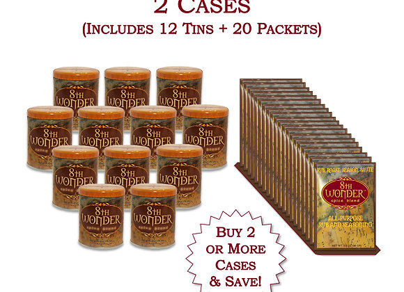 WH (2 Combo Cases) 20x Packet + 12x Tin - 8th Wonder Spice Blend