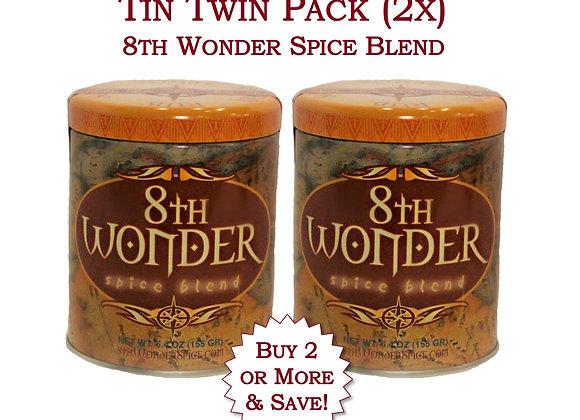 Twin Pack of Tin - 8th Wonder Spice Blend (6.4oz - 155g) 2x