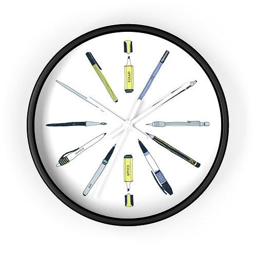 Reloj de pared - Elementos de escritura