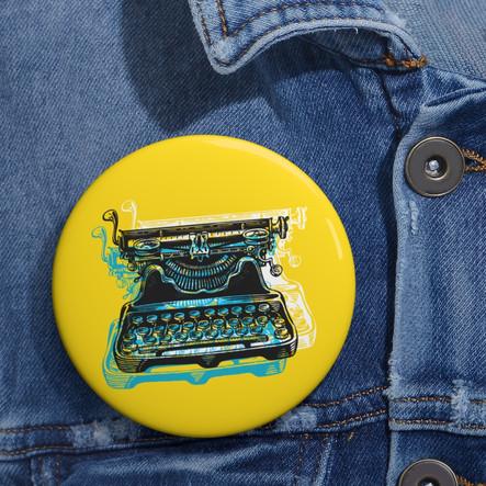 Pin Máquina de escribir amarillo