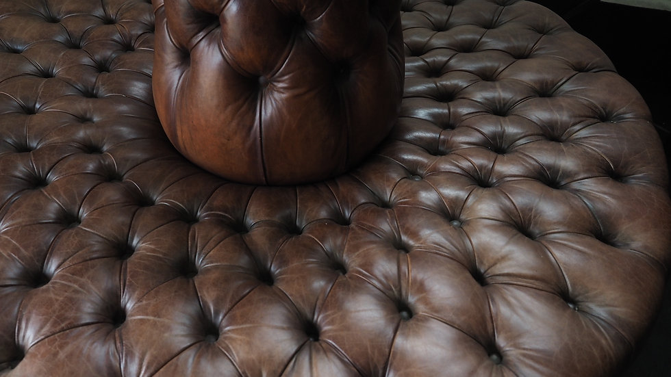 Leather conversation seat round sofa