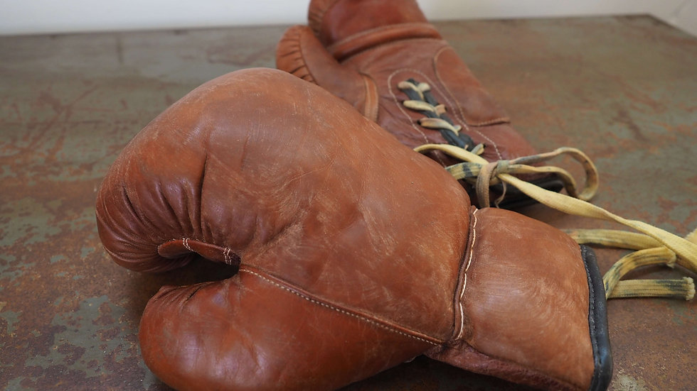 Authentic Leather  Boxing Gloves