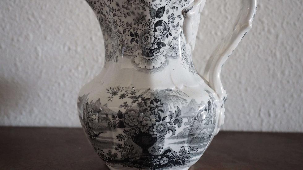 Black and White William Ridgway 'Persian' Jug c1830-1834