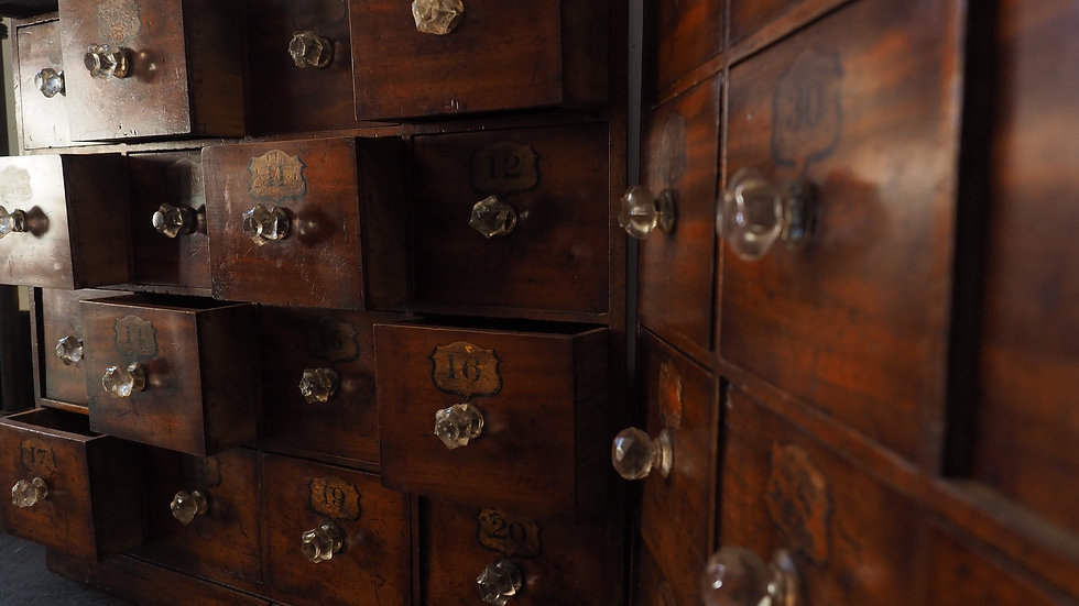 40 DRAWER APOTHECARY CABINETS pair