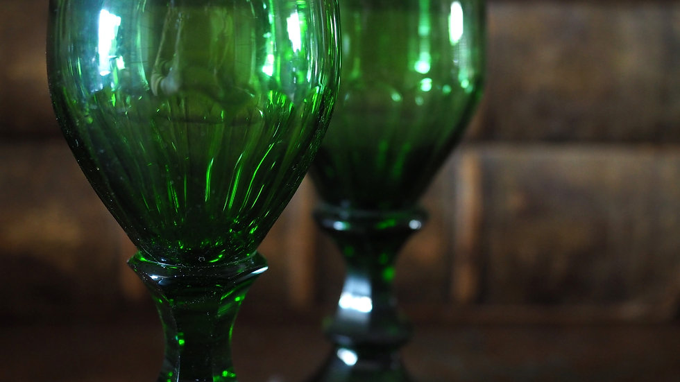 Green Crystal Glass