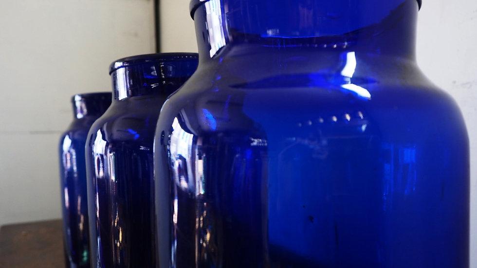 Blue Glass Big Jar