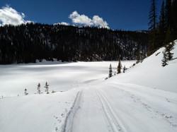 Frozen Alberta Reservoir