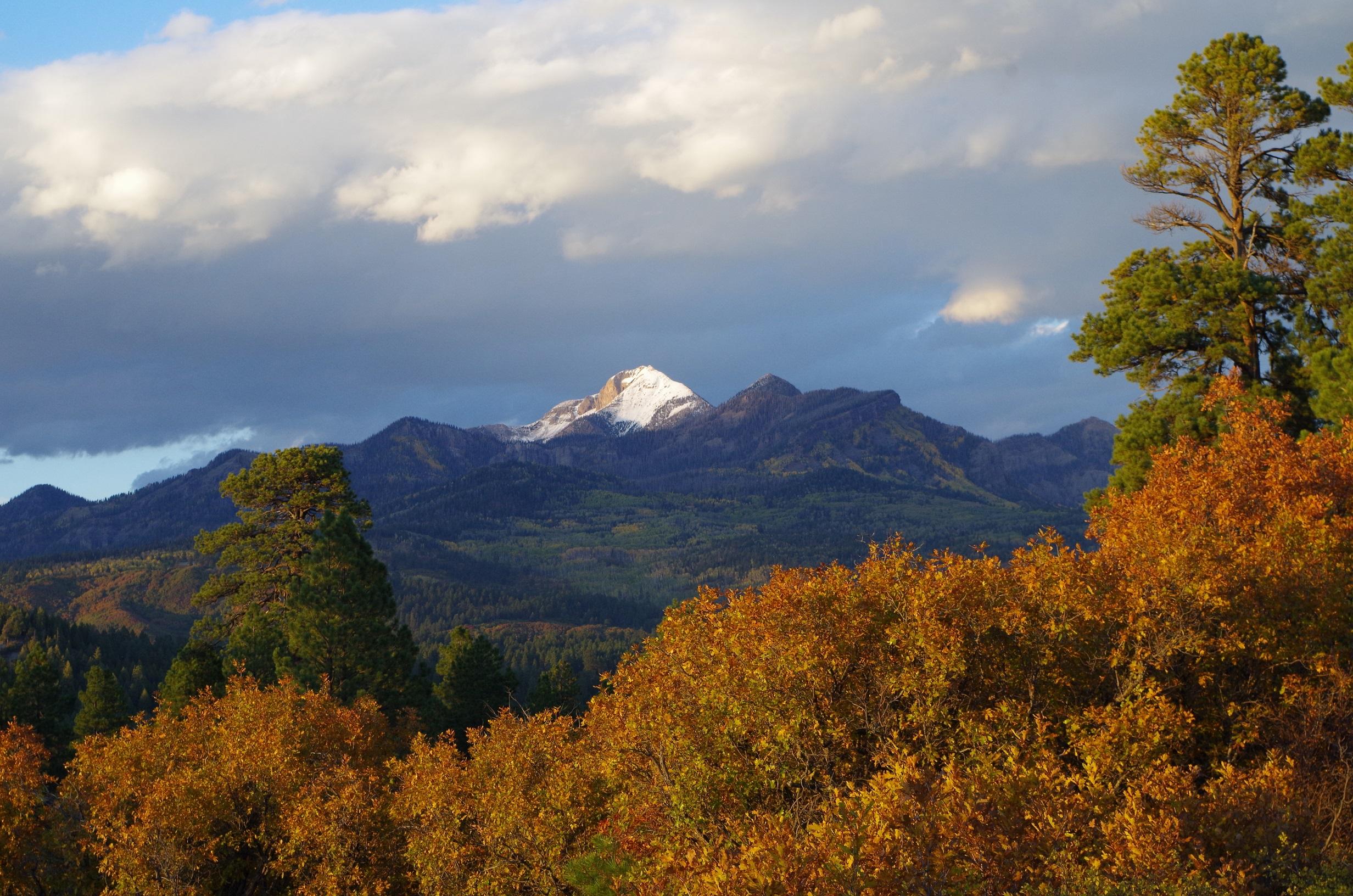 Fall Dusting on Pagosa Peak