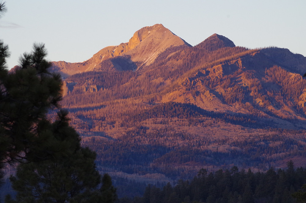 Pagosa Peak from Lake Hatcher