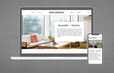 Wix Website Template for interior design