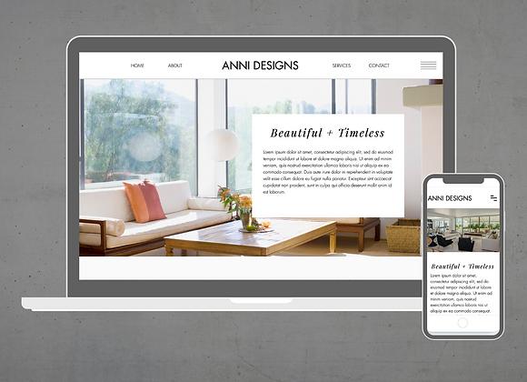 Anni Wix Website Template