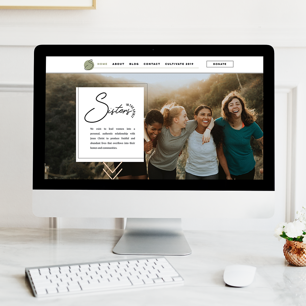 Sisters In The Spirit website, web design, el dorado hills