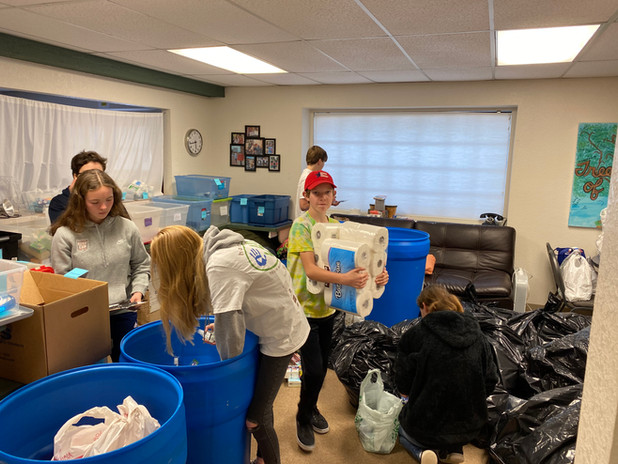 Toiletries Sorting Event