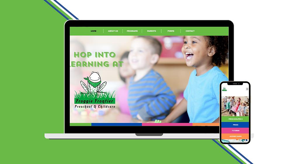 Froggie Frontier Preschool El Dorado Hills, Sam DeLeon Creative, Website Design