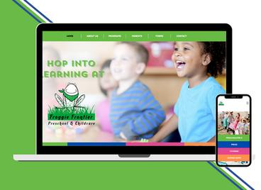 Froggie Frontier Preschool Website Design