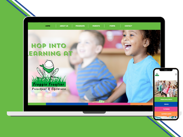 Froggie Frontier Preschool Website Design