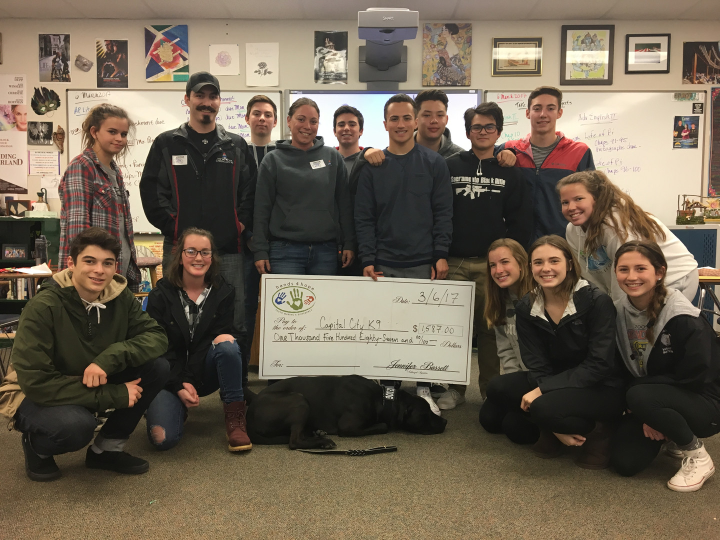 Ponderosa High School | Providing Check to Capital City K9