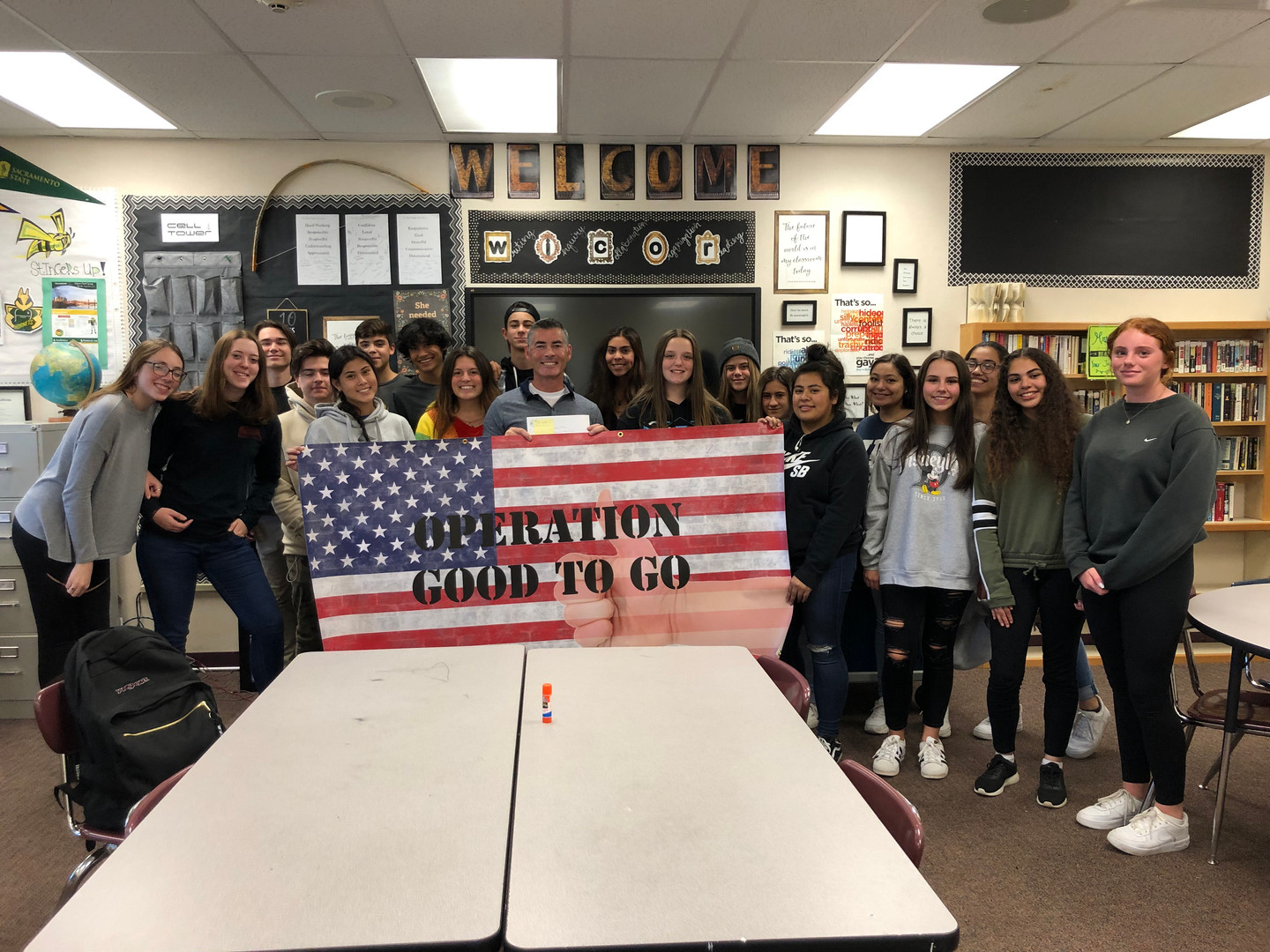 Union Mine High School Supporting Operation Good To Go for Homeless Veterans