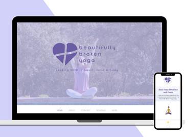 Beautifully Broken Yoga | Web & Branding Design