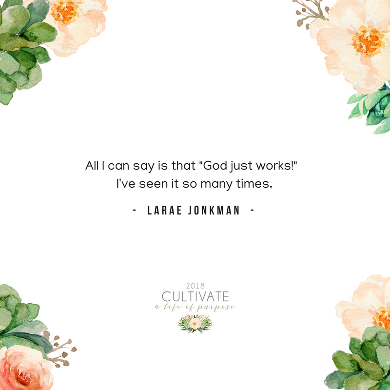 Cultivate, Women's conference, Vintage Grace Church, LaRae Jonkman, legacy, grandparent, mentor, El Dorado Hills